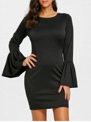 Bell Sleeve Sheath Dress -