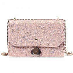 Glitter Blink Crossbody Bag with Chain -