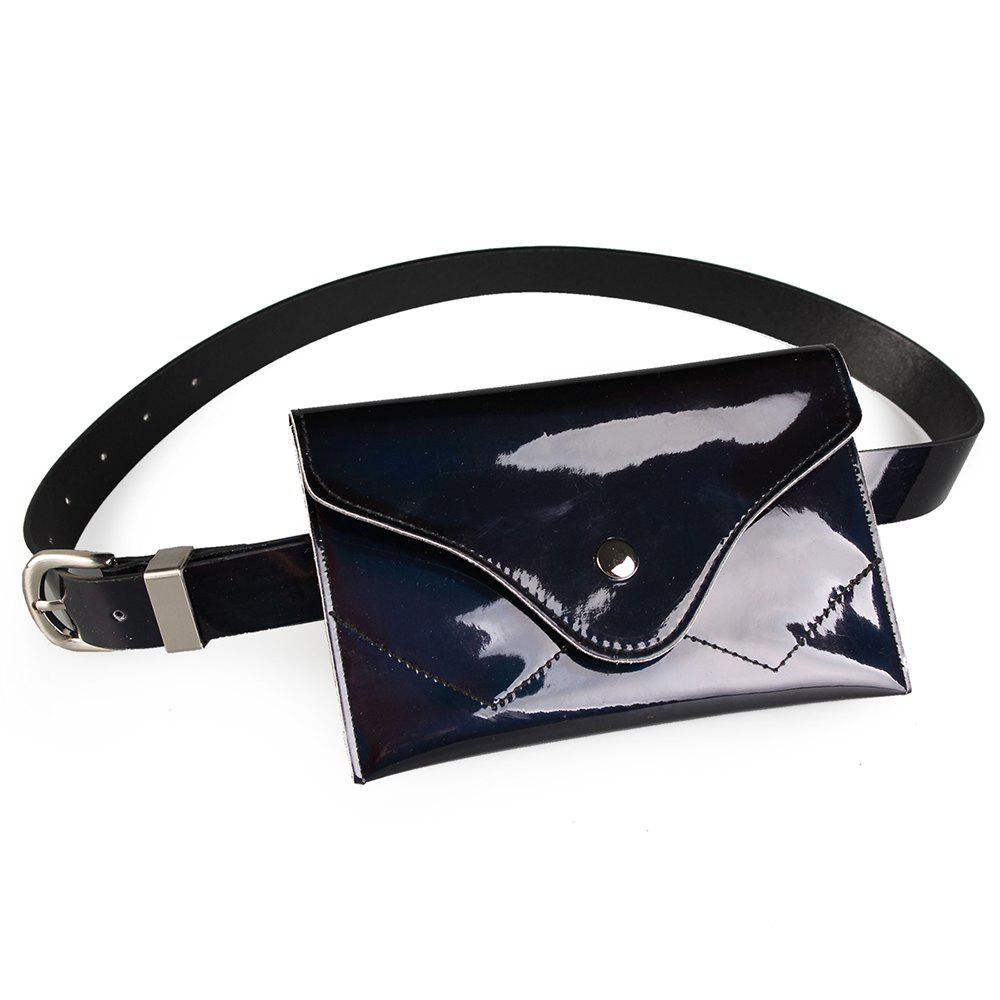 Affordable Fanny Pack Embellished Faux Patent Leather Skinny Belt