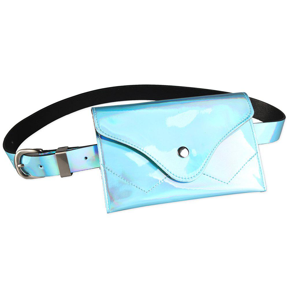 Outfit Fanny Pack Embellished Faux Patent Leather Skinny Belt