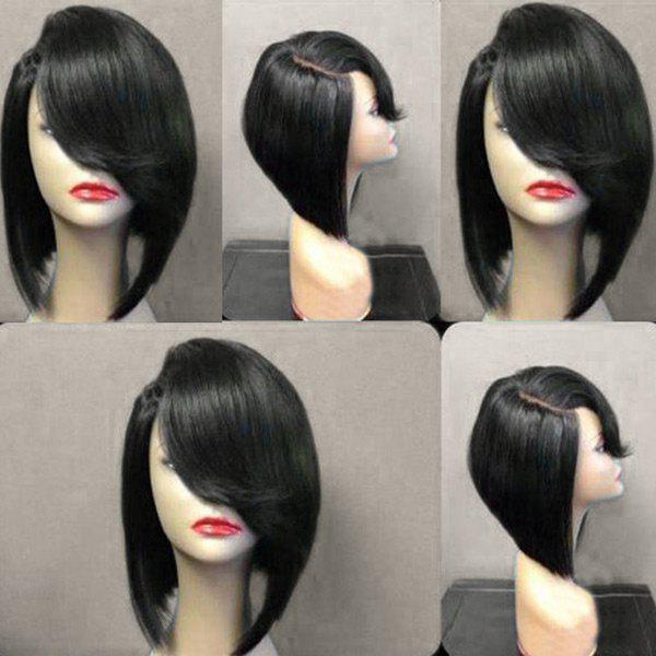 Trendy Short Deep Upwards Side Parting Straight Bob Synthetic Wig
