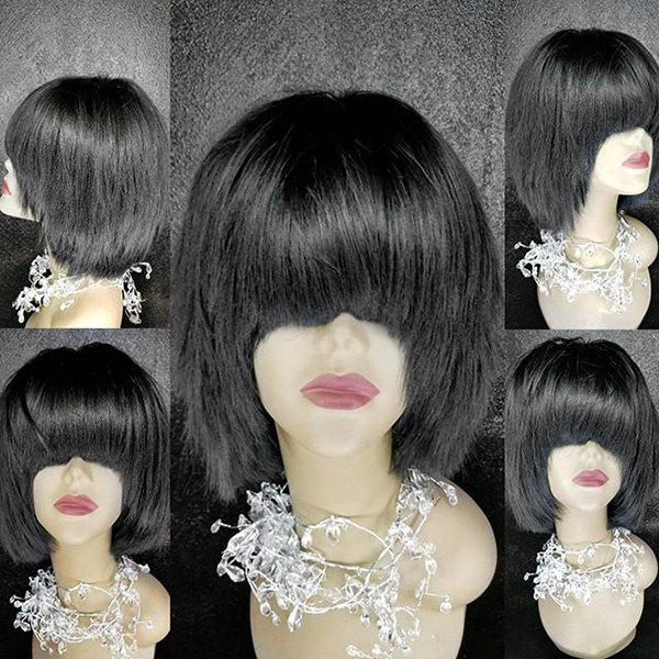 Outfits Medium Full Bang Straight Synthetic Fiber Wig