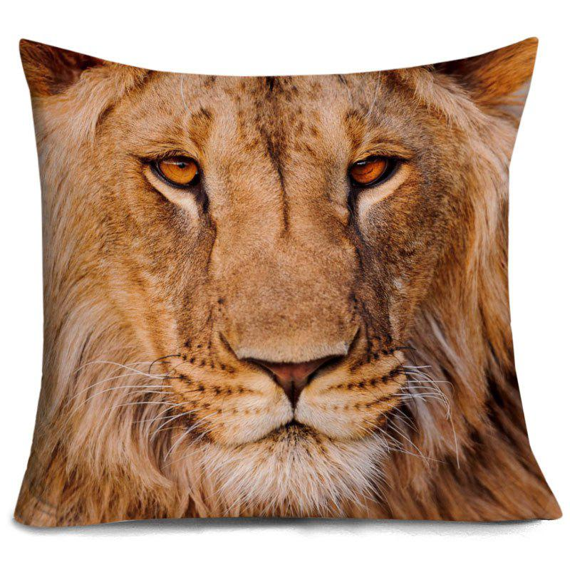 Affordable Lion Head 3D Print Decorative Pillowcase
