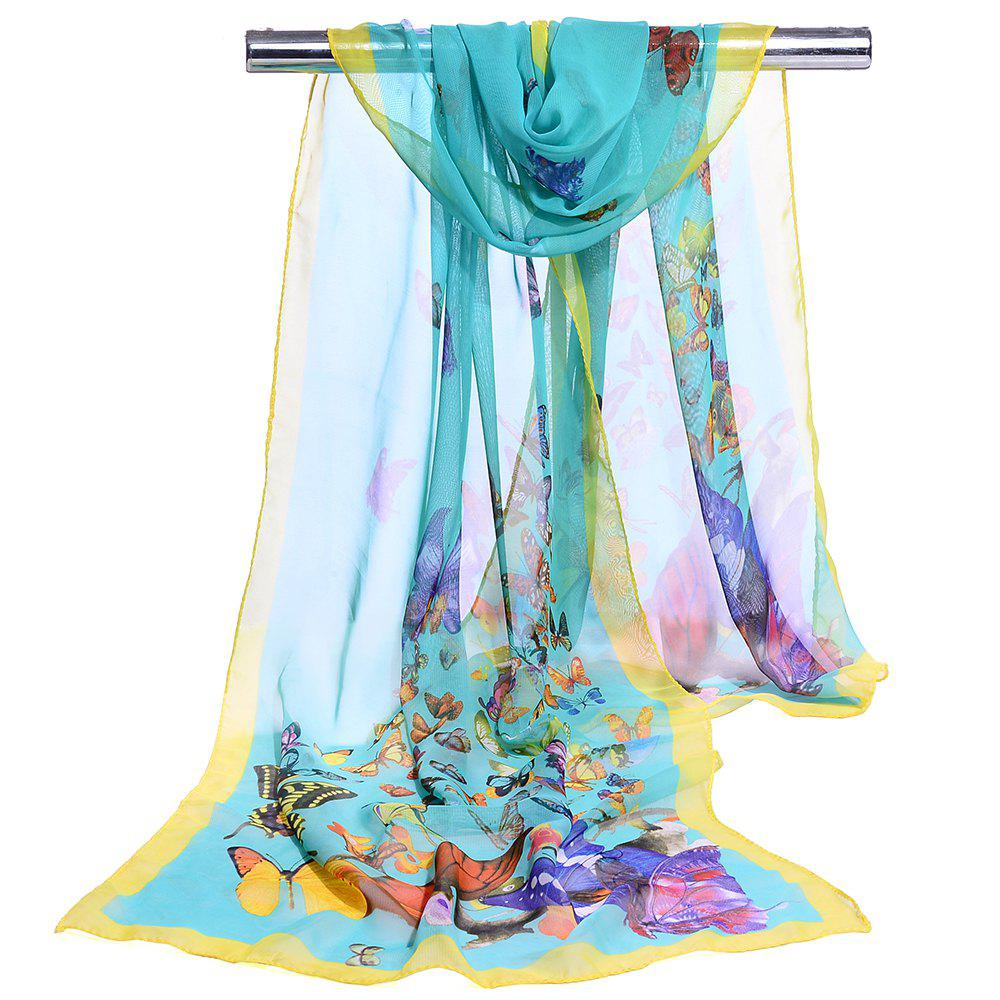 Hot Flying Butterflies Pattern Chiffon Silky Scarf