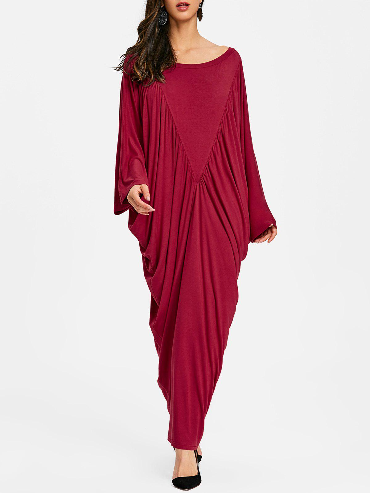 Fancy Batwing Sleeve Maxi Kaftan Dress
