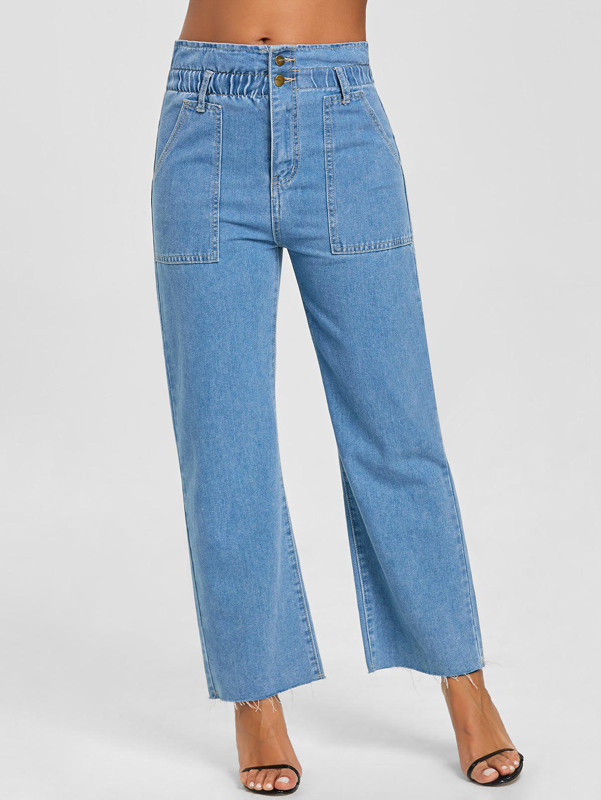 Hot Raw Hem Wide Leg Jeans