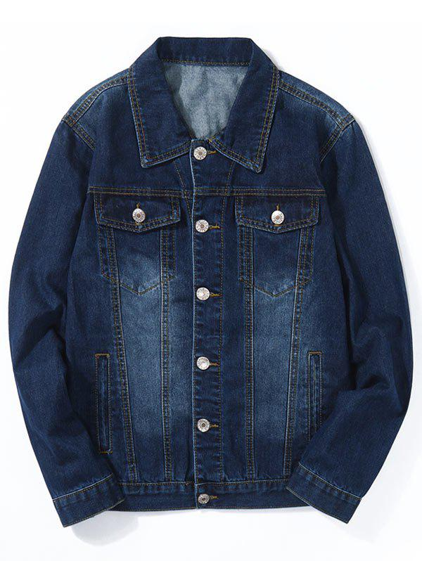 Chest Pocket Jean classique veste