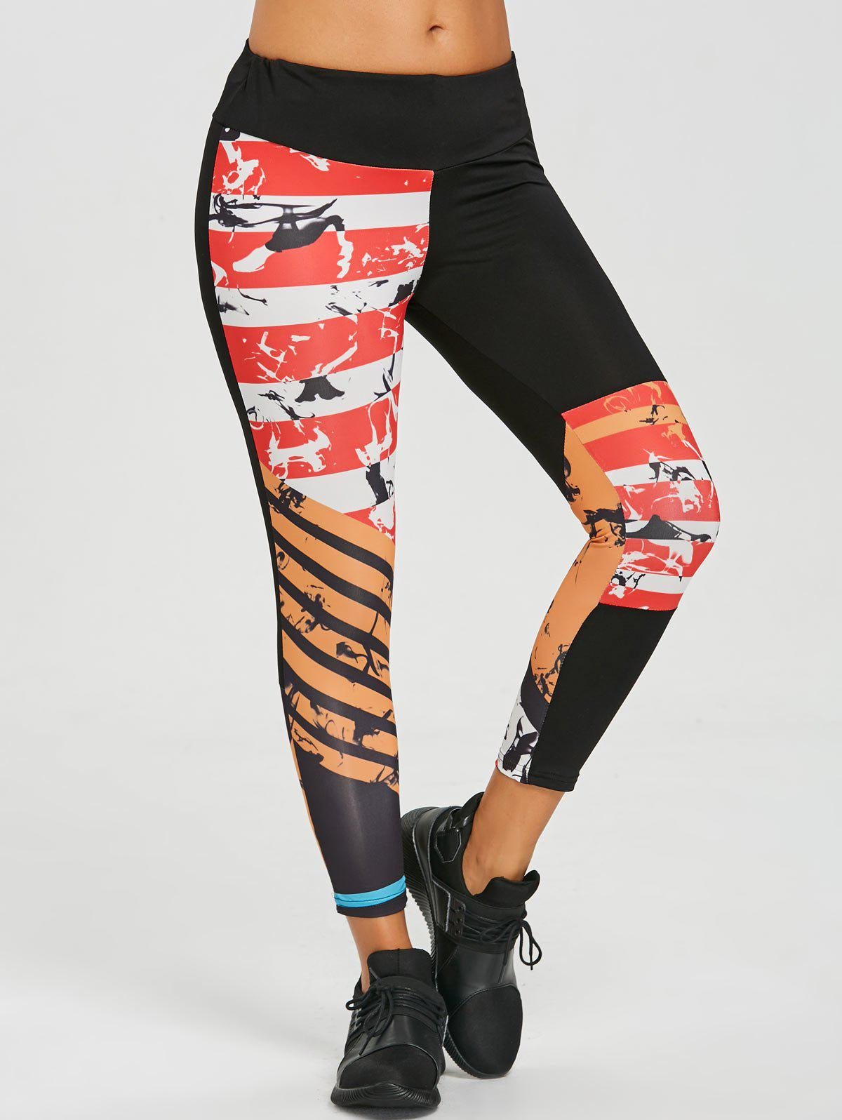 Fashion Scrawl Asymmetrical Workout Leggings