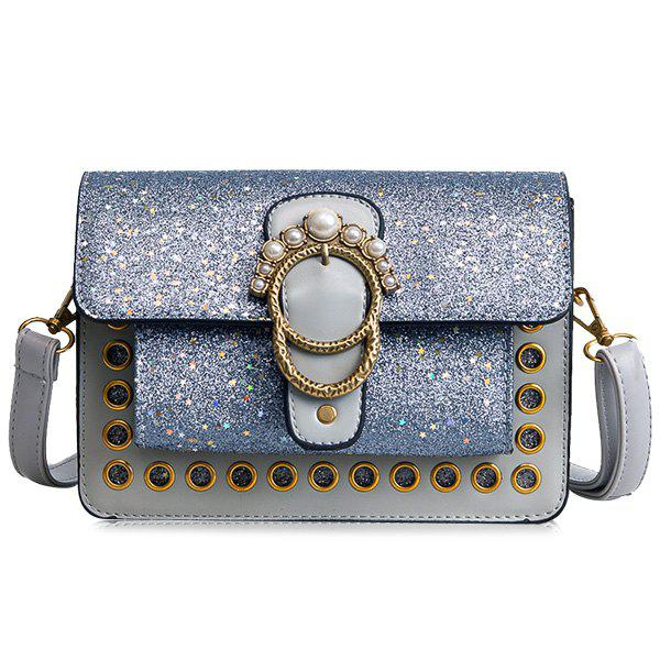 Latest Shimmer Stars Faux Pearls Crossbody Bag