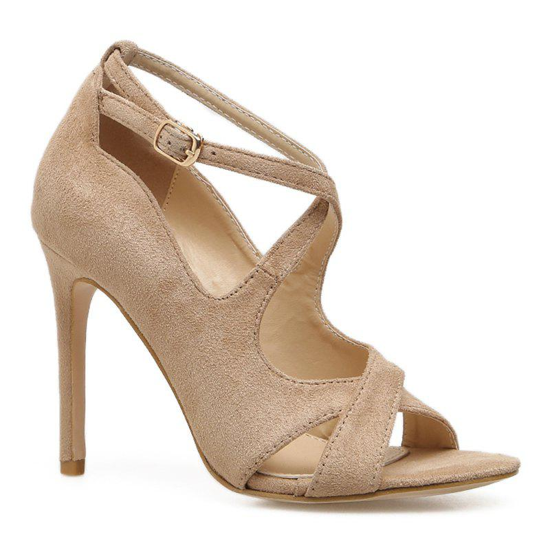 Store Cross-strap Peep Toe Sandals