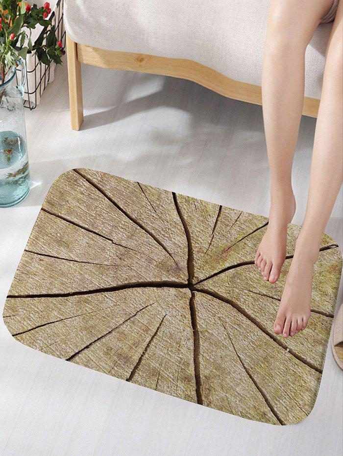 Outfits Crack Wood Print Water Absorption Area Rug