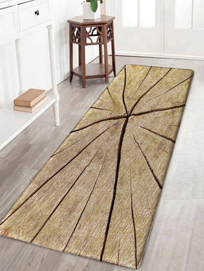 Latest Crack Wood Print Water Absorption Area Rug