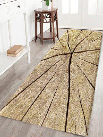 Unique Crack Wood Print Water Absorption Area Rug