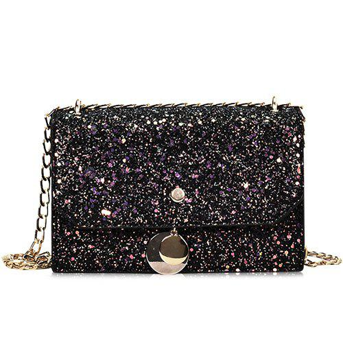 Fashion Glitter Blink Crossbody Bag with Chain