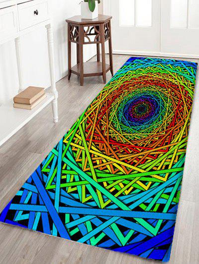 Cheap Abstract Psychedelic Geometric Water Absorption Bath Rug