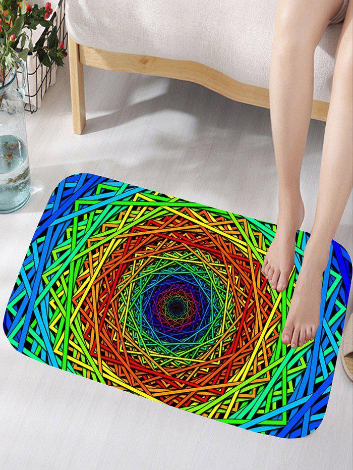 Shops Abstract Psychedelic Geometric Water Absorption Bath Rug