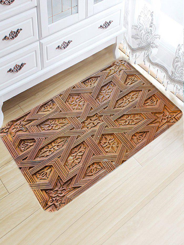 Shop Carving Wood Pattern Water Absorption Bath Mat