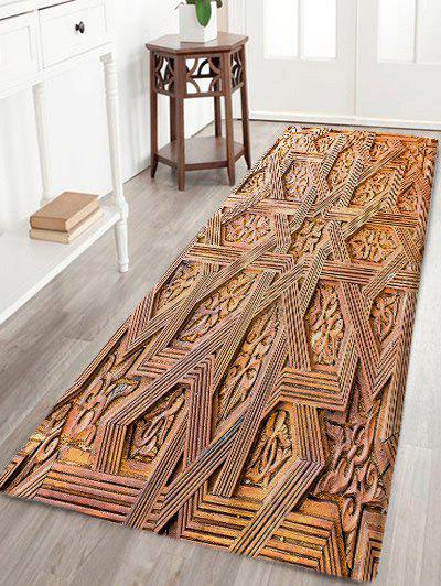 Buy Carving Wood Pattern Water Absorption Bath Mat