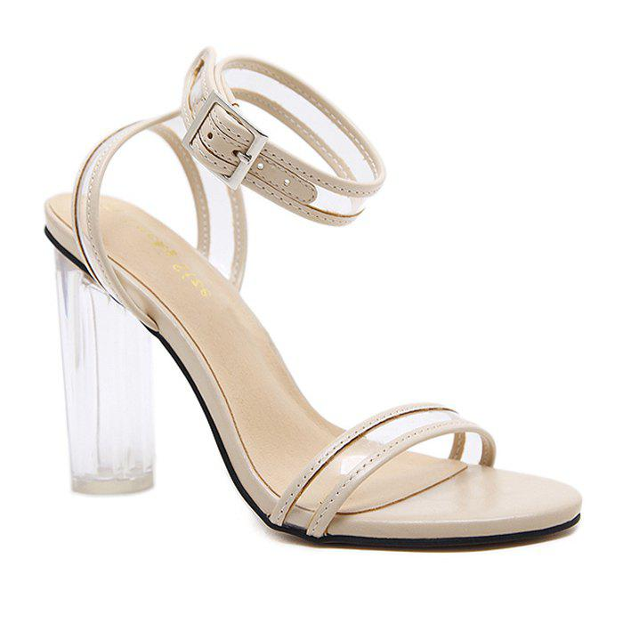 Outfits Ankle Strap Clear Heel Sandals