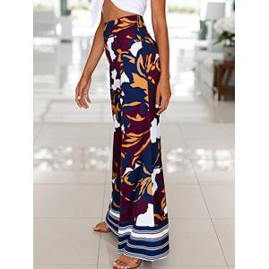 High Waist Camouflage Print Wide Leg Pants -