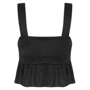 Plunge Ruffle Trim Tank Top -