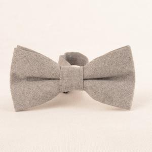 Solid Color Pattern Necktie Bow Tie and Handkerchief -