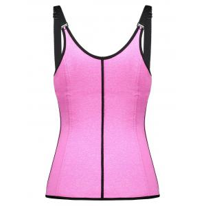 Space Dye Zip Waist Trainer Corset Vest -