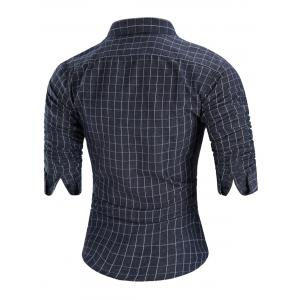 Casual Long-sleeved Grid Shirt -