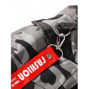 Fishtail Back Graphic Camo Jacket -
