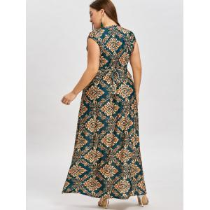 Robe Longue à Taille Empire Grande Taille -