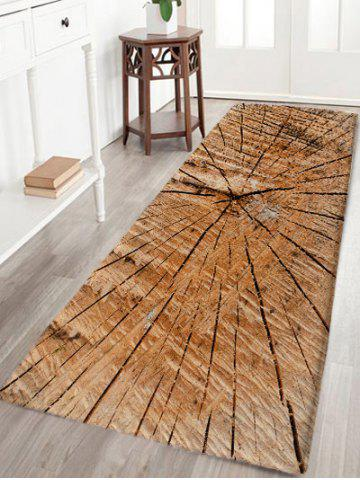 Cheap Crack of Wood Print Flannel Nonslip Area Rug