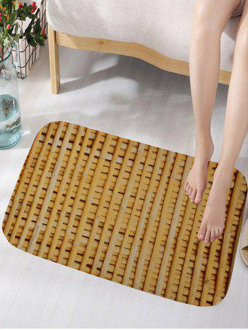 Fancy Bamboo Poles Pattern Water Absorption Area Rug