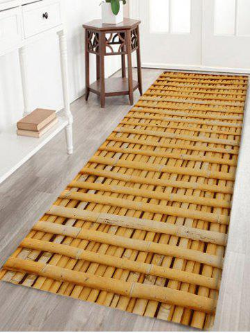Outfit Bamboo Poles Pattern Water Absorption Area Rug