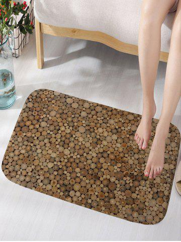 Online Wood Print Flannel Water Absorption Area Rug