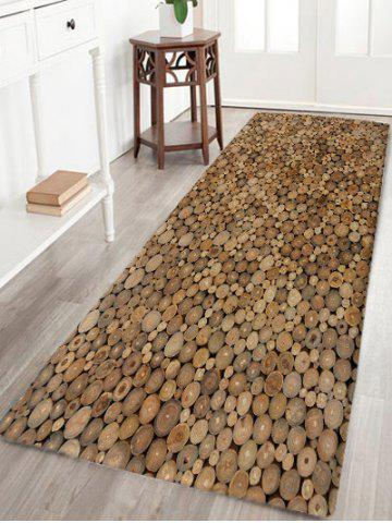 Shops Wood Print Flannel Water Absorption Area Rug