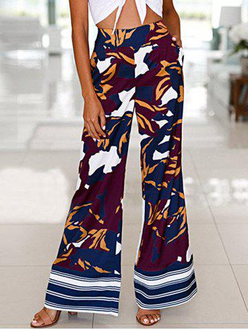 Fashion High Waist Camouflage Print Wide Leg Pants