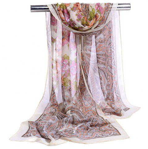 Store Blossoming Floral Pattern Silky Spring Fall Scarf