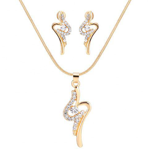 Fashion Simple Rhinestone Necklace with Earring Set