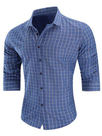 Sale Casual Long-sleeved Grid Shirt