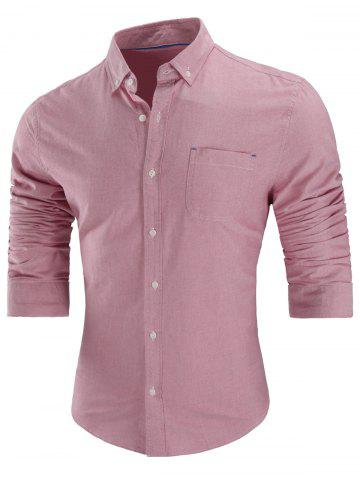 Hot Chest Pocket Button Down Shirt