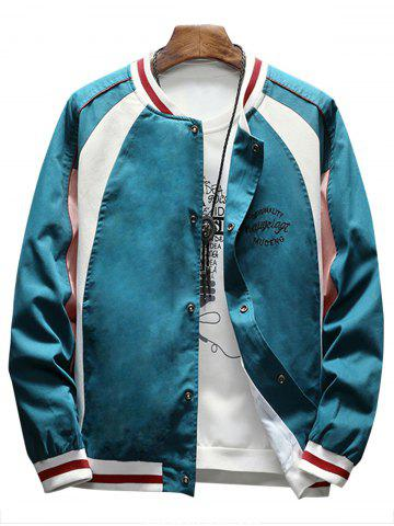 Outfit Raglan Sleeve Embroidered Baseball Jacket