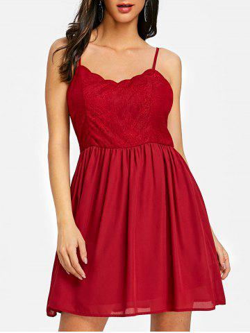 Affordable Backless Cami Mini Skater Dress