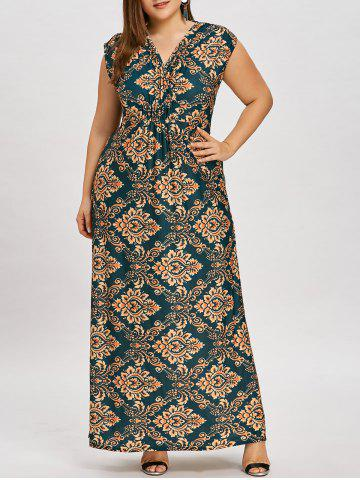 Robe Longue à Taille Empire Grande Taille