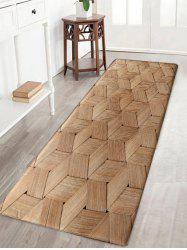 Basket Weave Pattern Water Absorption Nonslip Bath Rug -