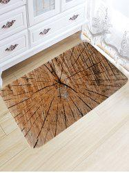 Crack of Wood Print Flannel Nonslip Area Rug -