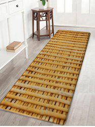 Bamboo Poles Pattern Water Absorption Area Rug -