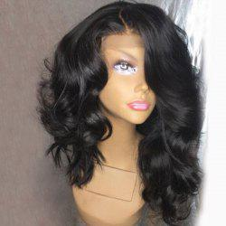 Long Side Parting Loose Wave Lace Front Synthetic Wig -