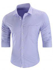 Chest Pocket Casual Long Sleeve Shirt -