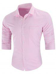 Turn Down Collar Pocket Casual Shirt -