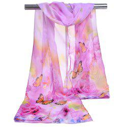 Unique Flying Butterfly Pattern Nice Touching Silky Scarf -